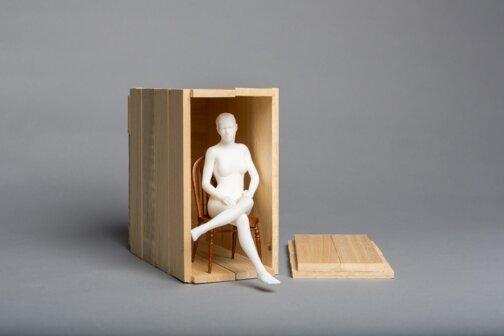 Matthew Darbyshire, Seated Nude, 2014