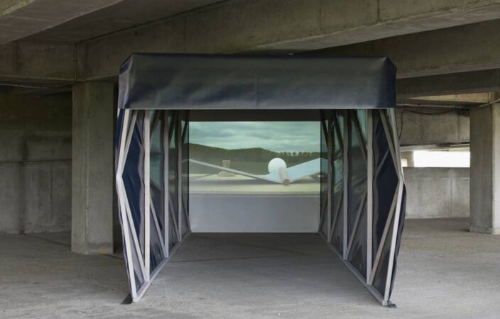 Nicholas Brooks, Transit of the Megaliths, 2013 installation view, 2013 at Bold Tendencies, London