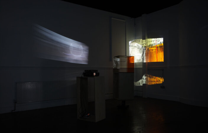 Laura Buckley, Mechanical Poem, 2007, installation view, Material Presence, 2008 at Zabludowicz Collection, London. Photo: Stephen White