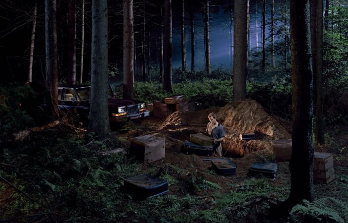 Gregory Crewdson, Untitled (man in the woods), 2003