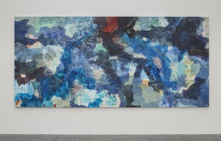 Ida Ekblad, Tracks / Coming to boast in refrigerated cloak, 2013