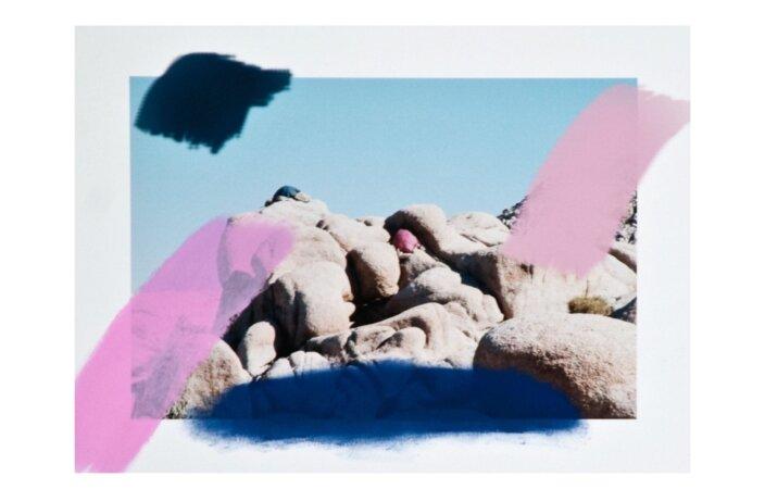 Sam Falls, Untitled (blue and pink, Joshua Tree, CA), 2012