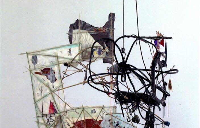 Elliott Hundley, From a Blackbright Hole, the Heart of Hekabe, 2007