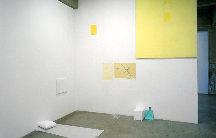 Ian Kiaer, Grey Cloth Project: Scheerbart/Bed, 2005