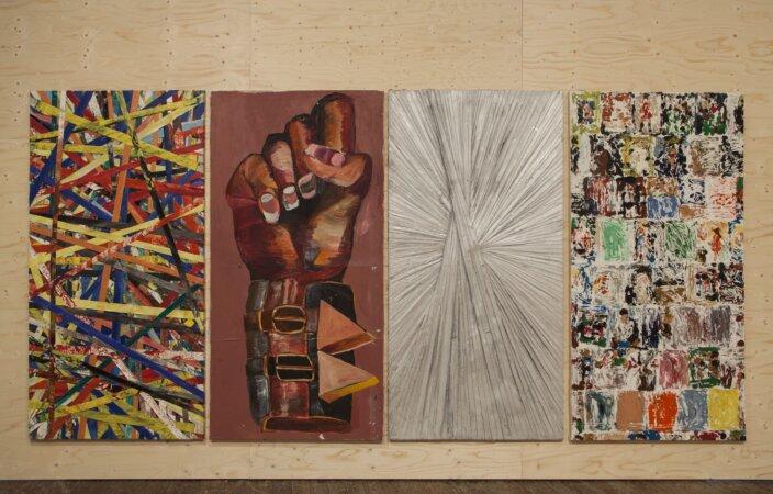 Installation view, Matthew Chambers,  2013 at Zabludowicz Collection, London. Photo: Tim Bowditch