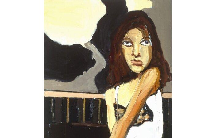 Chantal Joffe, The Pink High Heels, 2004, Oil on board