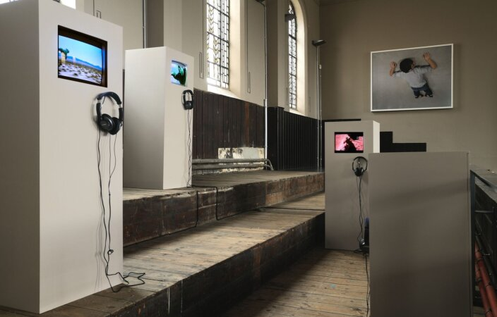 Jack Strange, For the Greenman, 2008, installation view, Pete and Repeat, 2009 at Zabludowicz Collection, London. Photo: Thierry Bal