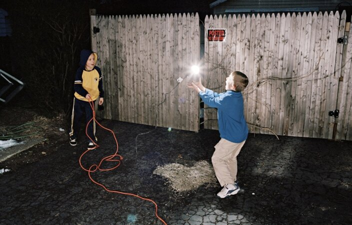Bradley Peters, Untitled (boys playing with lightbulb), 2008