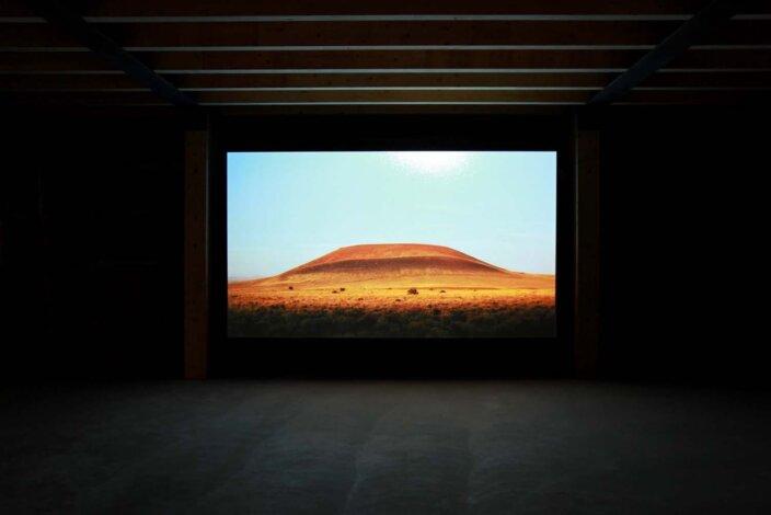 Erin Shirreff, Roden Crater, 2009, installation view, Herman's, Sarvisalo, Finland. Photo: David Bebber