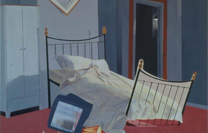 Dexter Dalwood, Room 100, Chelsea Hotel, 1999