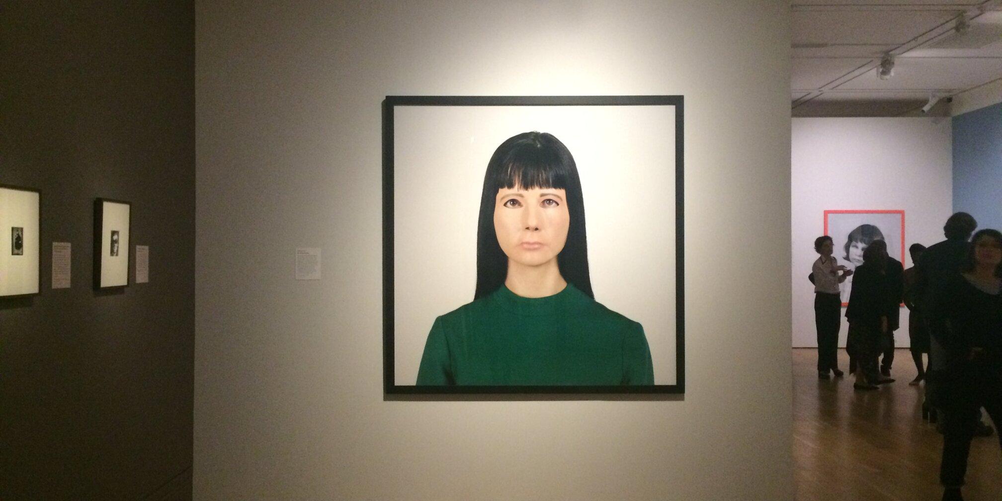Gillian Wearing, Self Portrait, 2000. Installation view Gillian Wearing and Claude Cahun, National Portrait Gallery, London, 2017