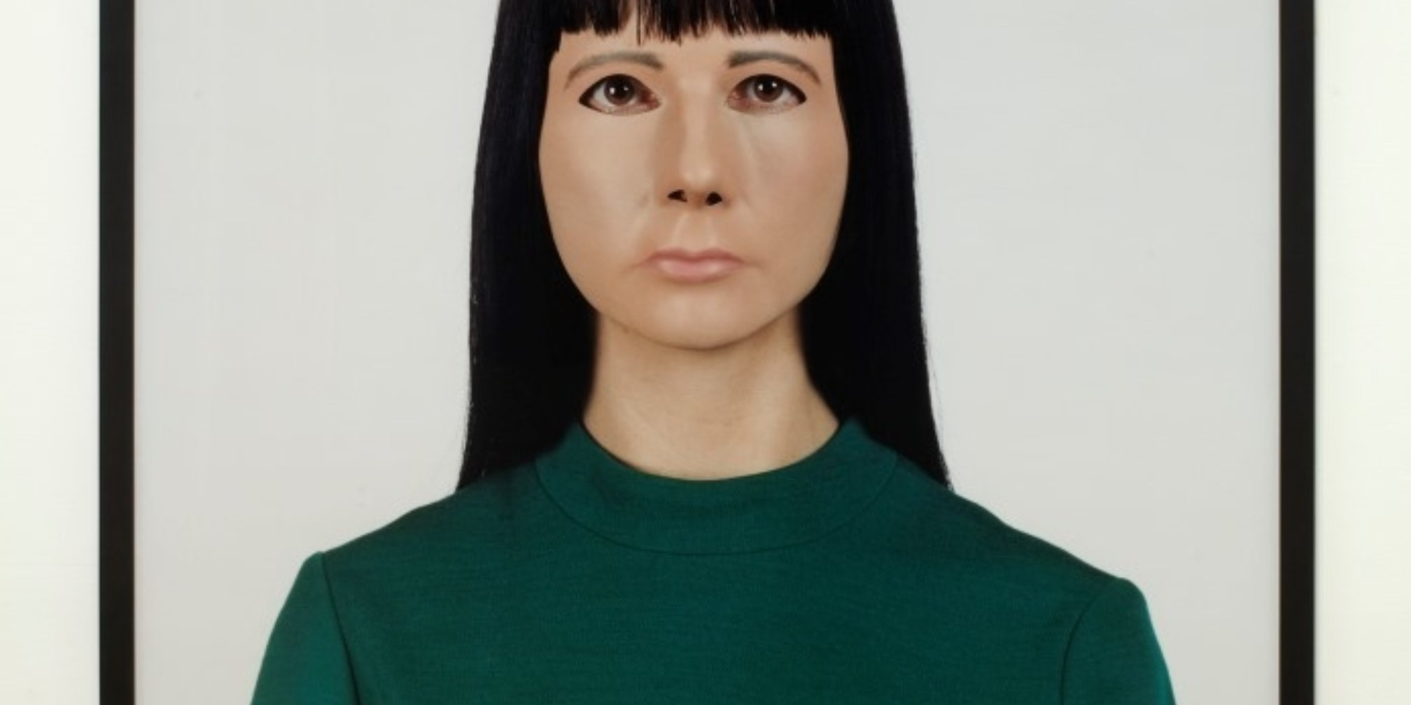 Gillian Wearing, Self Portrait, 2000 (installation view)