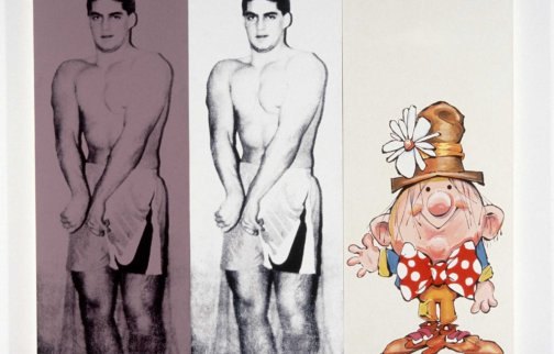 Julia Wachtel, Untitled (Body Builder), 1989