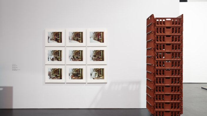 Michael Landy, Appropriation 2, and Stack VIII, both 1990. Photo: Stuart Whipps
