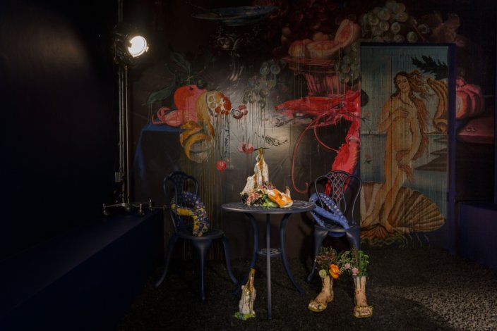 Lindsey Mendick, installation view of Perfectly Ripe. Photo: Tim Bowditch