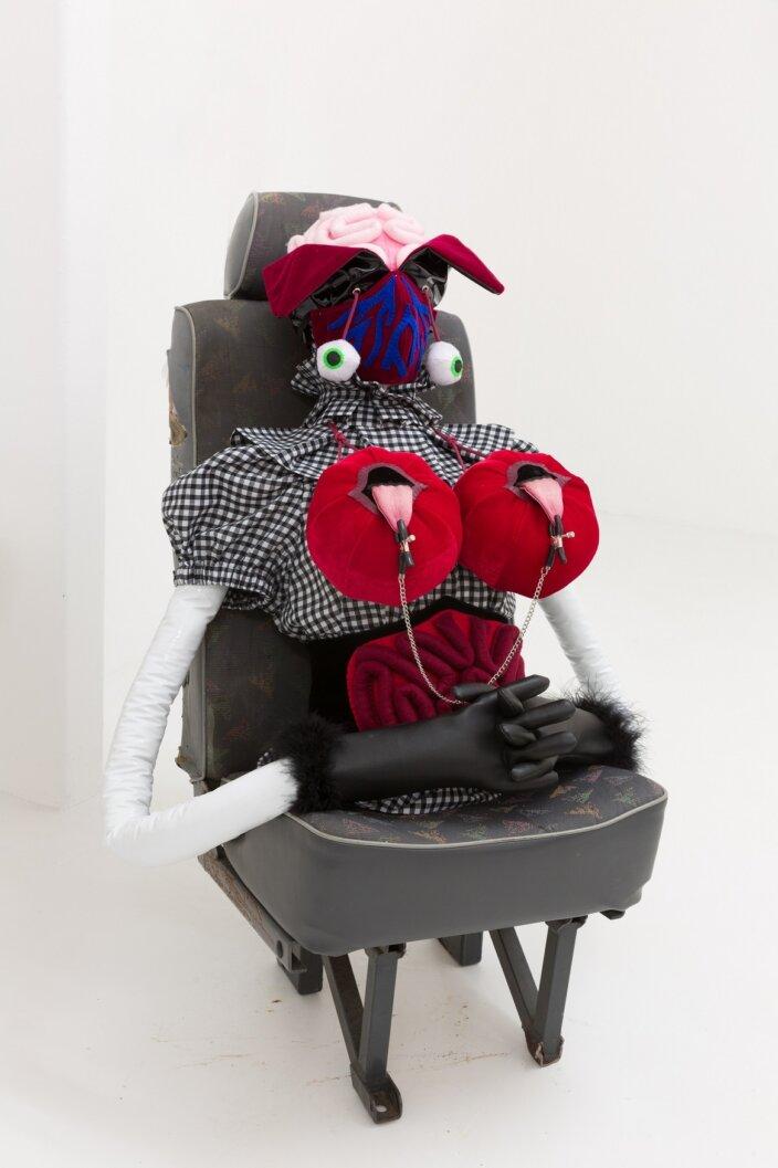 Rosie Gibbens, The Angelique, 2020 installation view Soft Girls at Zabludowicz Collection, London, 2021. Photo: Tim Bowditch