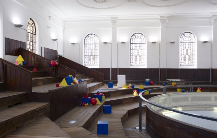 Ryan Gander, You walk into a space, any space, Or, Poor little girl beaten by the game, 2010,installation view, The Shape We're In, 2011 at Zabludowicz Collection London. Photo: Stephen White