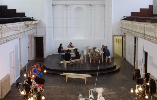 Installation view,  Curatorial Open: Troubling Space: The Summer Sessions, 2012 at Zabludowicz Collection, London