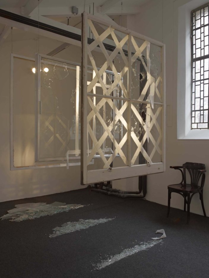 Helene Kazan, Window no. 17, 2012. Installation view,  Curatorial Open: Troubling Space: The Summer Sessions, 2012 at Zabludowicz Collection, London