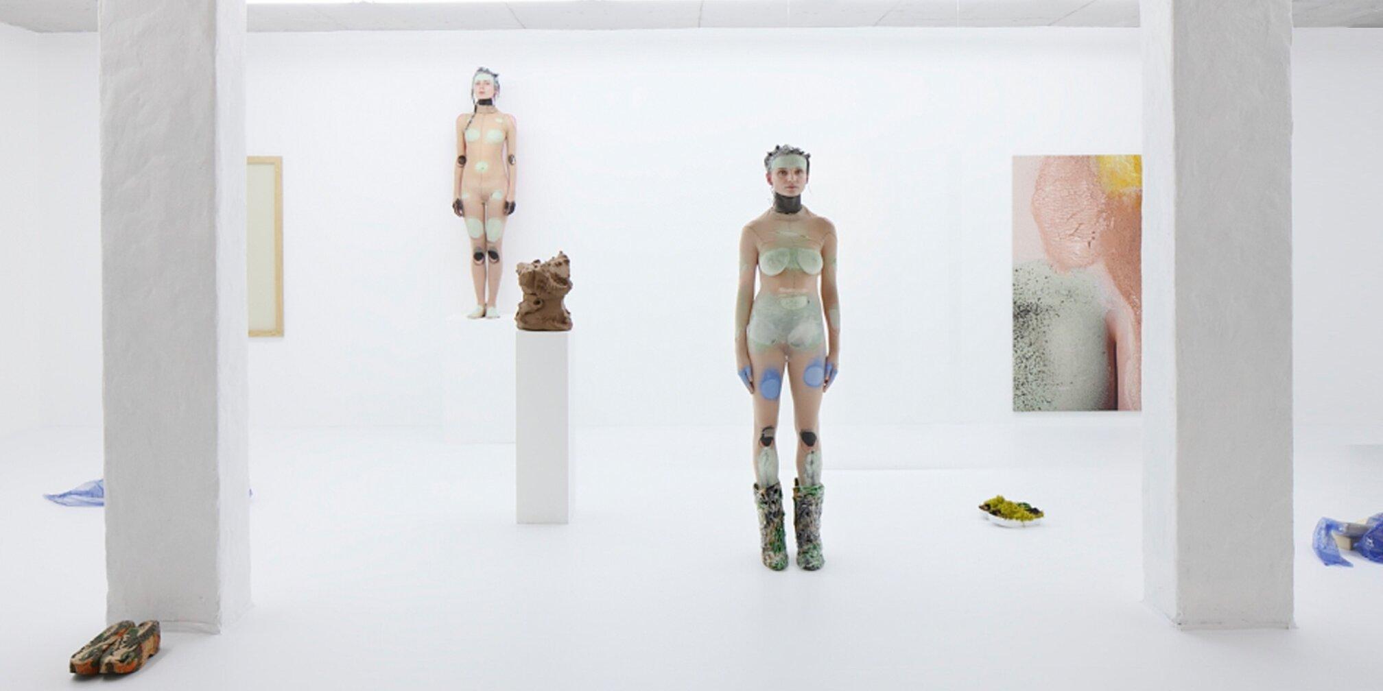 Donna Huanca, Polystyrene's Braces. Installation view, 2015. Kim? Contemporary Art Centre, Riga