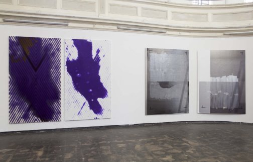 Installation view, Painting in the 2.5th Dimension, 2013 at Zabludowicz Collection, London. Photo: Tim Bowditch