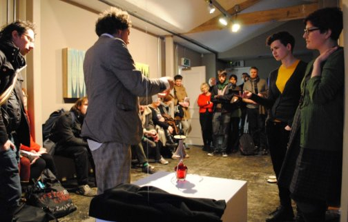 Josh Baum and Ellen Mara De Wachter in conversation, Future Map Late, 2011 at Zabludowicz Collection