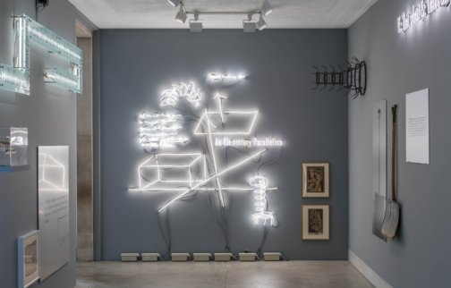 Exhibition installation view of  'Plays of / for a Respirateur' An Installation by Joseph Kosuth Philadelphia Museum of Art, 2015. Photo: Joseph Hu
