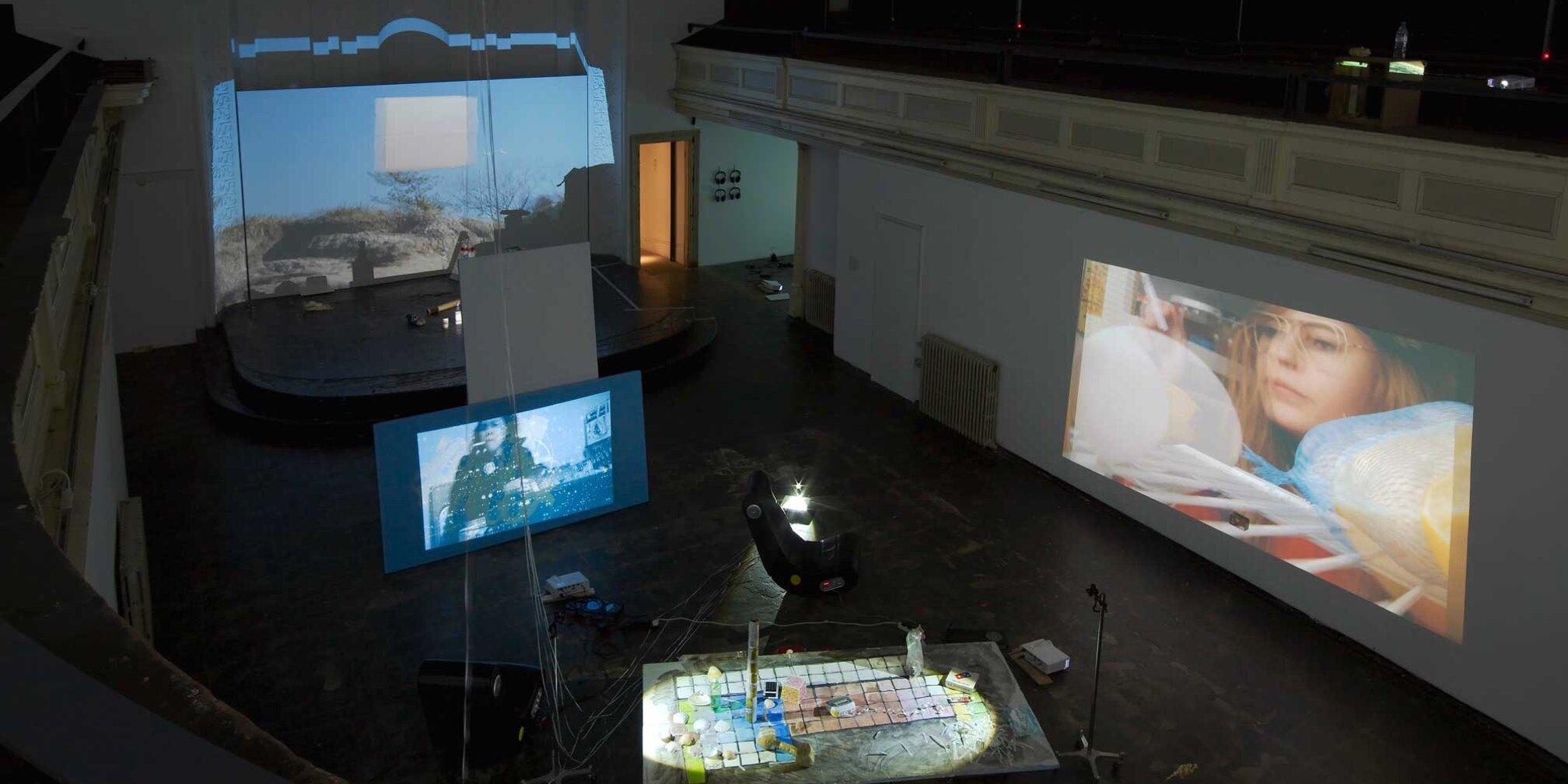 Installation view, Trisha Baga, 2014 Zabludowicz Collection, London . Photo: Andy Keate.