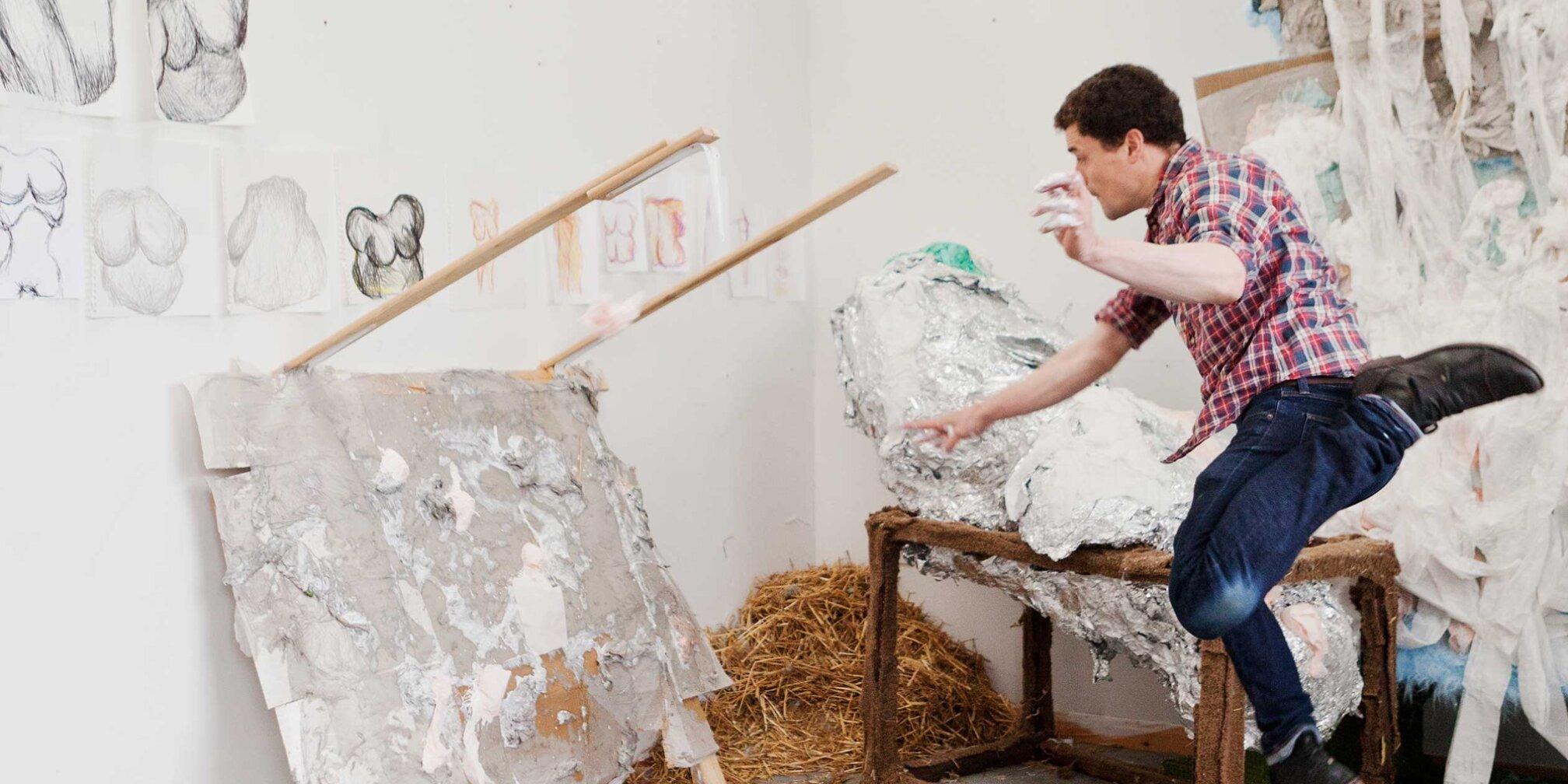 John Summers in his studio, 2012