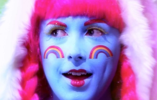 Rachel Maclean, Over The Rainbow, 2013 (still).Commissioned by The Banff Centre, Canada and The Collective Gallery, Edinburgh.