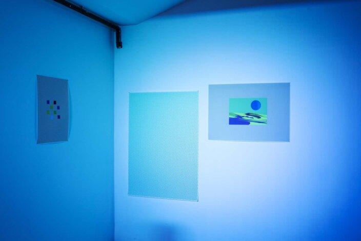 Richard Sides, Stop Killing My Buzz, 2012, installation view, Invites: Richard Sides, 2012 at Zabludowicz Collection, London. Photo: Tim Bowditch