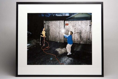 Bradley Peters, <i>Untitled (Boys playing with lightbulb)</i>, 2010