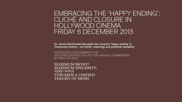 Embracing the Happy Ending: Cliché and Closure in Hollywood Cinema - a talk by Dr. James MacDowell