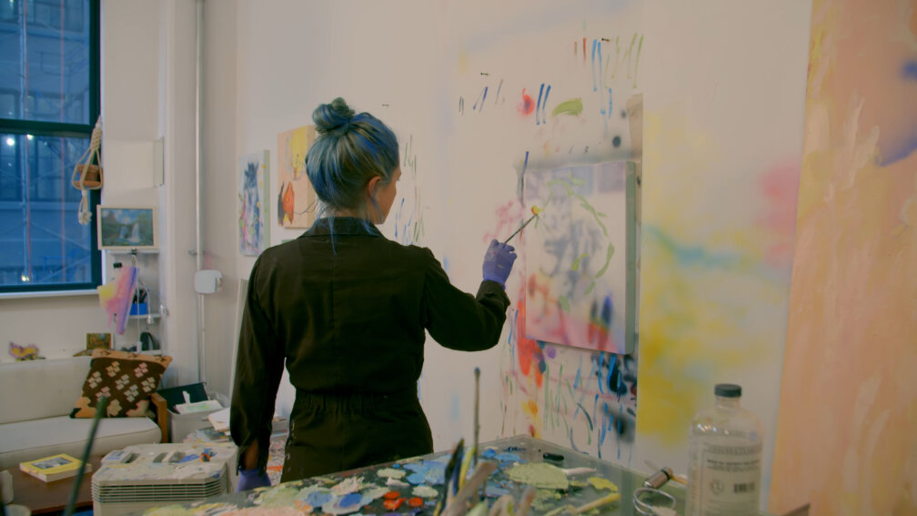 In the studio with Rachel Rossin