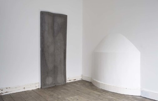 Michael Dean, door (working title) verso, 2011, installation view, Testing Ground: Disappearing Into One, 2013 at Zabludowicz Collection, London
