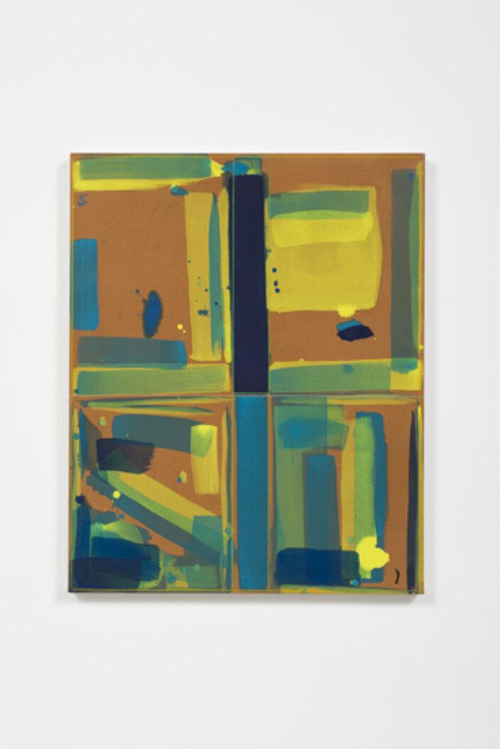 Matt Connors, Open Bottom (Brown, Yellow, Blue), 2015